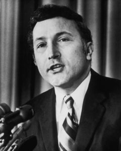 1976: Senator Richard Schultz Schweiker, picked by Republican candidate Ronald Reagan as his running mate in the 1976 presidential election. (Photo by Archive Photos/Getty Images)