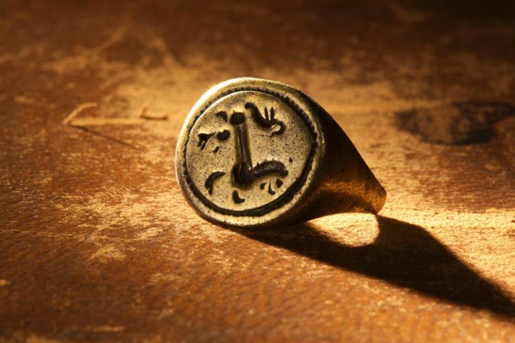 A gold signet ring excavated from the Cape Creek site on Hatteras Island, engraved with a prancing lion or horse, may have belonged to a prominent member of the Roanoke colony.