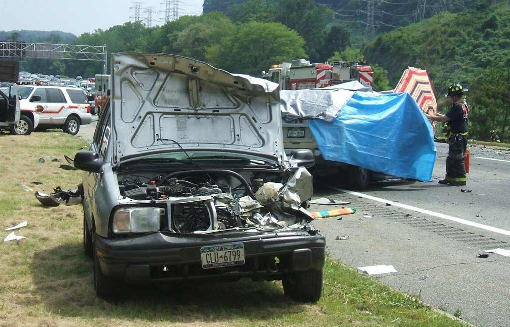 A scene from the film on the crash caused by Diane Schuler that killed her and seven others in July 2009. CreditHBO