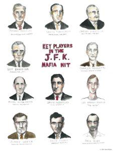 """""""Key Players in the JFK Mafia Hit"""" by Drew Christie"""