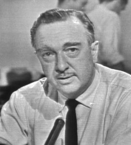 Walter Cronkite announcing the death of President Kennedy on November 22, 1963