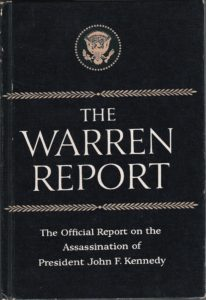 Cover of the Warren Commission report